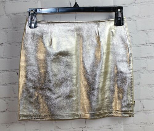 S ~ A.P.C. Women's Leather Metallic Gold Shimmerin