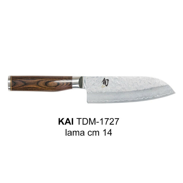 Coltello cucina  Kai serie  santoku SHUN PREMIER  TDM 1727 damascato
