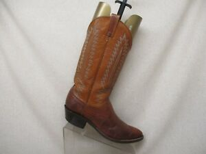 Dan-Post-Brown-All-Leather-Lizard-Cowboy-Western-Boots-Mens-Size-8-D-Style-16836