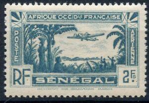 TIMBRES-COLONIES-FRANCAISES-SENEGAL-POSTE-AERIENNE-N-5