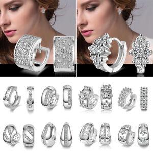 4e7b80f1562e La imagen se está cargando Mujeres-aro-pendientes-preciosas-blancas-cristal- aretes-de-