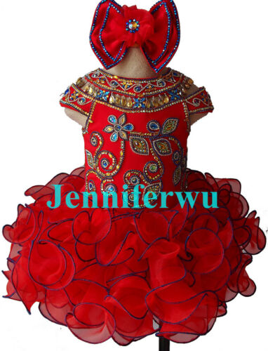 Jenniferwu Infant//toddler//kids//baby//children Girl/'s Glitz Pageant Dress G225