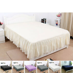 Pleated-Bed-Skirts-Hotel-Quality-Dust-Ruffle-14-Inch