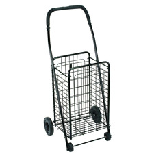 Folding Shopping Cart Basket Black Wheels Rolling Trolley Grocery Dmi Laundry