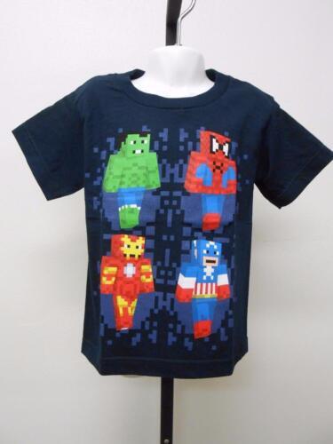 NEW Marvel Avengers Spiderman Ironman Youth Kid Sizes 4-5-6-6X-14//16-18//20 Shirt