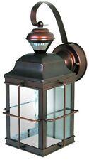 Antique Bronze Porch Light Motion Sensor Outdoor Lantern Lamp Fixture Exterior