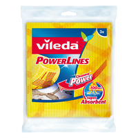 Vileda Power Lines Cleaning Cloth - Pack Of 3 - Made In Germany
