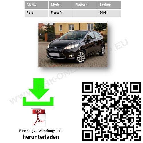 E-satz ES7 Ford Fiesta VI Schrägheck ab 2008 Anhängevorrichtung komplett AHK
