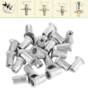 100Pcs-Steel-Aluminum-Threaded-Rivet-Nut-Inserts-Rivnut-Nutsert-M4-M5-M6-M8-Set