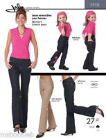 Jalie Stretch Jeans Low & Regular Rise 27 Sizes Misses Girls Sewing Pattern 2908