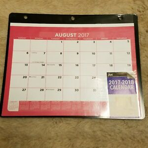 3 ring binder calendar insert black 2017 2018 school year august