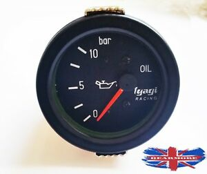 FUEL-OIL-PRESSURE-GAUGE-METER-0-10-BAR-60MM-DIA-24v-BLACK-DIAL-M615-C