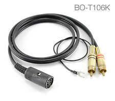 6ft Value Bang & Olufsen Din7 F to Gold 2-RCA M TurnTable Cable w/ Ground