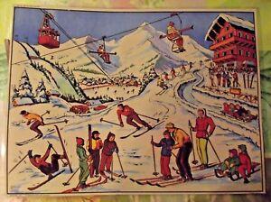 Objeto-de-Profesion-Cartel-Escolar-42x30-Estacion-deportivo-de-invierno-Esqui