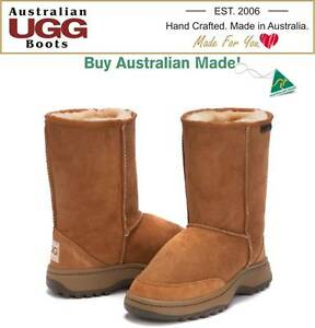 Image is loading UGG-BOOTS-100-Australian-Made-OUTDOOR-HIKING-Short-