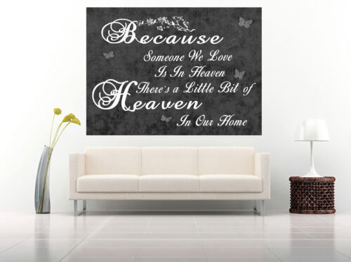 HEAVEN QUOTE Black /& White Canvas Wall Art Picture Print ALL SIZES Life