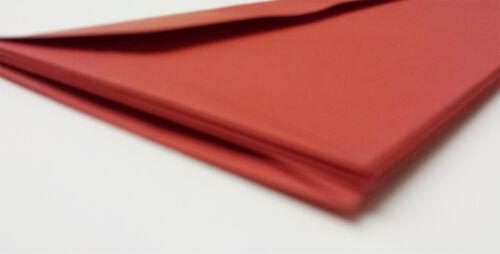 25-500 RED DL ENVELOPES HIGH QUALITY VANGUARD GUMMED STRAIGHT FLAP