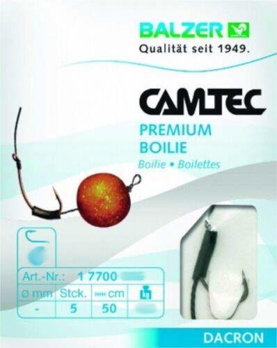 Balzer Camtec Premium Boilie Geflochten 50cm Gr 6 177000006 Boiliehaken Feedern