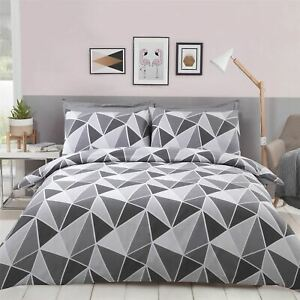 GEOMETRIC-TRIANGLES-GREY-WHITE-COTTON-BLEND-KING-SIZE-DUVET-COVER
