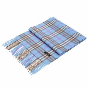 Auzland-UGG-Pure-Wool-Scarf-Blue-Check