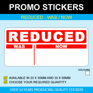 Reduced-Was-Now-Stickers
