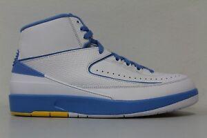 sneakers for cheap e4ae0 f3c96 Details about Nike Mens Air Jordan 2 Retro Melo White University Blue  385475 122 Size 11