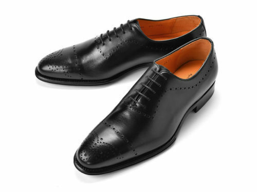 MENS HANDMADE BLACK FORMAL LEATHER FORMAL PURE REAL QUALITY LEATHER SHOES