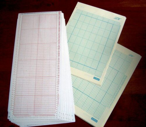 10 Blank 30 stitch Punchcard10 grid paper for SilverReed knitting machine