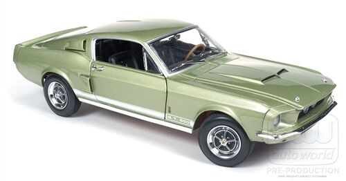 1967 Ford Mustang Shelby GT500 Lt verde 1:18 Auto World 993