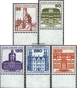 Berlin-West-673A-677A-Unterrandstueck-kompl-Ausg-postfrisch-1982-Burgen-und