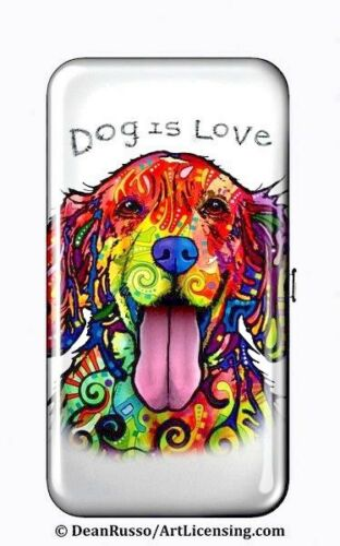 """7.25/"""" x 4.00/"""" x .75/"""" Full Color DOG face design RFID Protected Security WALLET"""