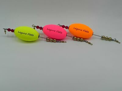 3 Pack  Laguna Flats Tackle Co Made in Texas The Long Shot Popping Cork
