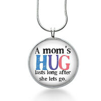 A Mom's Hug Necklace, Quote Pendant, Love, Gifts For Women,jewelry, Necklace