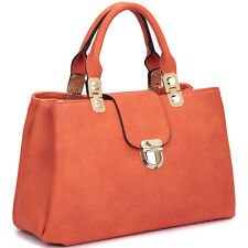 New Dasein Fashion Women Leather Satchel Tote Bag Shoulder Bag Handbag Purse