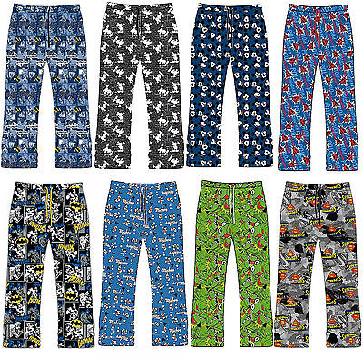 Mens Superman Batman Lounge Pants Pyjama Bottoms