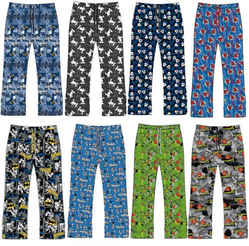 Uomo Pigiami Lounge Bottoms Pants Pantaloni BATMAN SUPERMAN Muppets Animale MICKEY