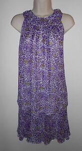 Cute-ECI-Pleated-Silk-Blouse-amp-Skirt-Set-Sizes-4-6-White-Purple-amp-Yellow