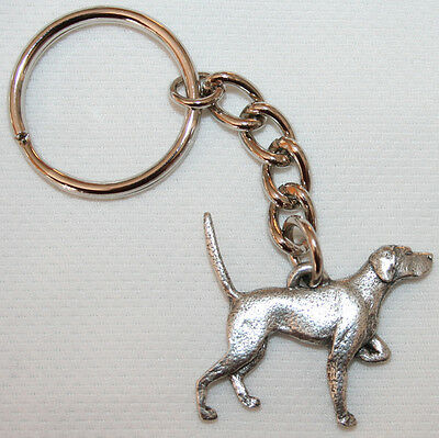 POMERANIAN Dog Fine Pewter Keychain Key Chain Ring NEW
