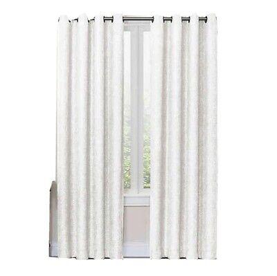 White Shimmer Grommet Curtain Panels 2, Shimmer Grommet Curtain Panels