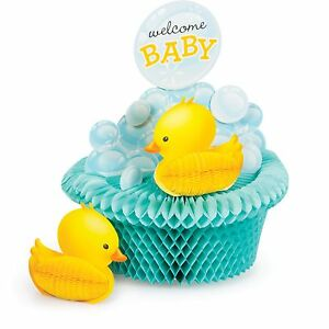 Image Is Loading Baby Shower Rubber Duck Bubble Bath Theme Table