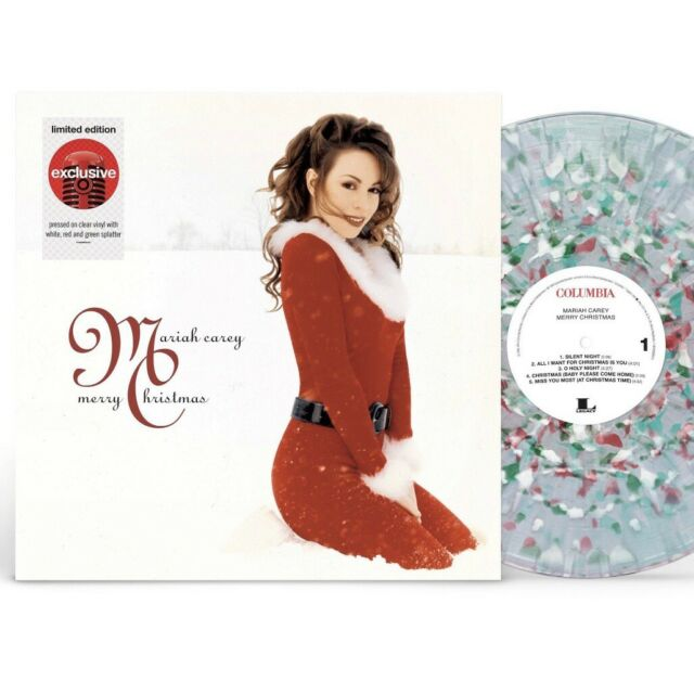 Mariah Carey - Merry Christmas LP, Clear w/White Red & Green Splatter LTD ED
