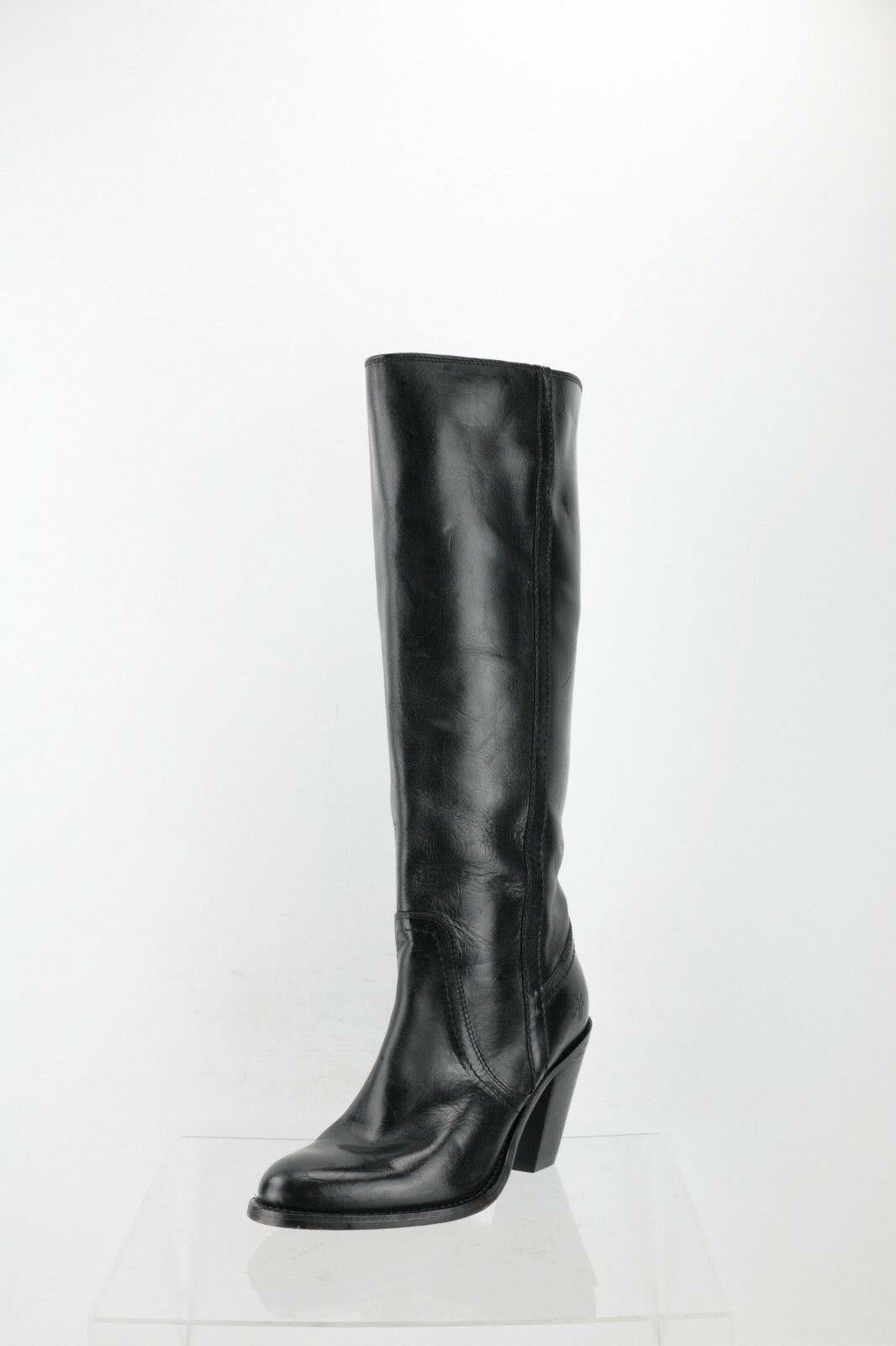 Frye 75161 Black Leather Knee High Boots Women's Shoes Size 6.5 M NEW RTL $590