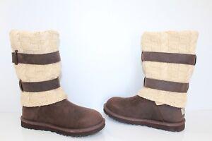 cda0b6e6a21 Details about UGG Australia 1007691 CHO 9 W Cassidee Suede Tall Sheepskin  Boots Chocolate 9