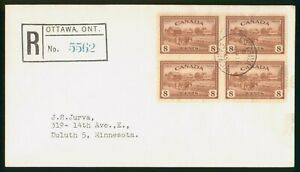 Mayfairstamps Canada FDC 1945 Farming Block Registered First Day Cover wwo1617