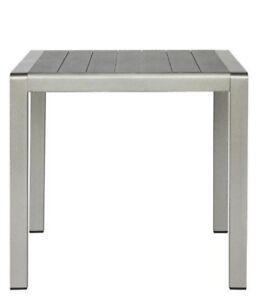Tabla-al-aire-libre-de-80x80x76-de-aluminio-y-de-material-compuesto-de-color-gri