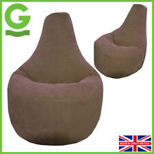 Beanbag Gamer Arm Chair Jumbo Corduroy Chocolate Brown Adult