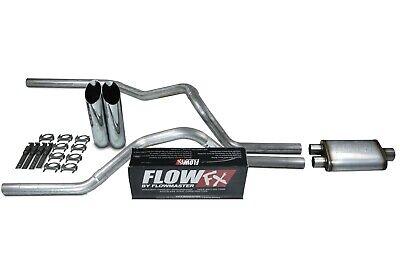 "94-03 Dodge Ram 1500 2.5/"" Dual Exhaust Flowmaster 50 Corner Exit Slash Tip"