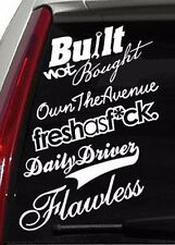 White Decal Sticker Pack of 5 - Inches JDM Stance Race Drift (5PKDWHITE)