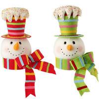 Snowman Head Christmas Tree Topper Decoration Mb Sp 3416360 Raz Candy Color
