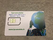 Prepaid SIM Karte LYCA France Frankreich (3-in-1 SIM) NEU NEW WITH ACTIVATION !!